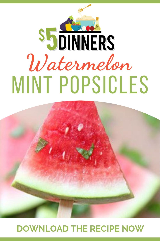 watermelon mint popsicles