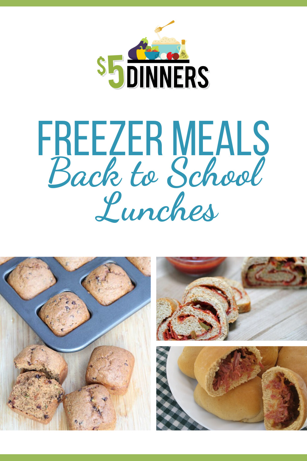 freezer meals for back to school lunches