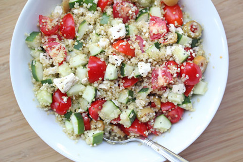greek chilled quinoa salad
