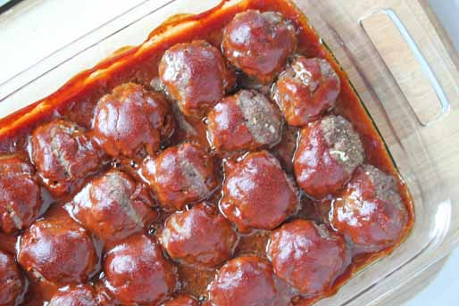 BBQ Meatball Sliders 3