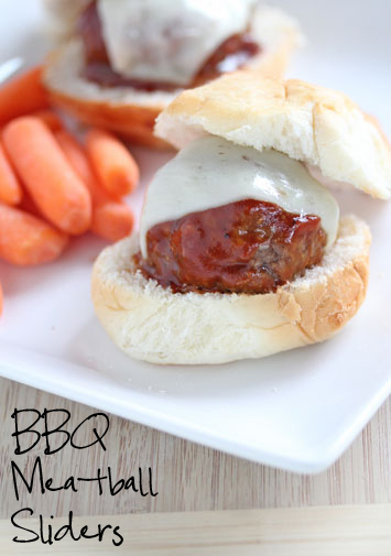 freezer friendly BBQ Meatball Sliders
