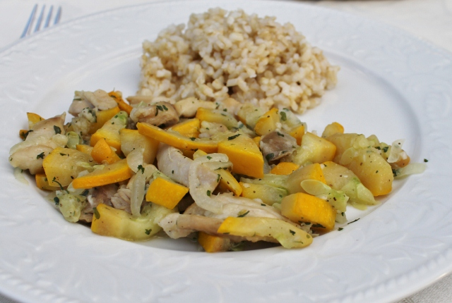 Chicken with Summer Squash Recipe