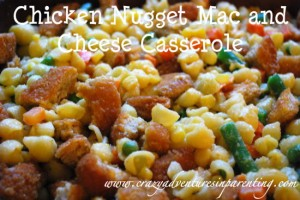 chicken nugget maccaroni and cheese