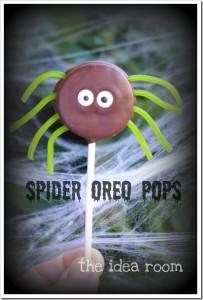 spider oreo pops