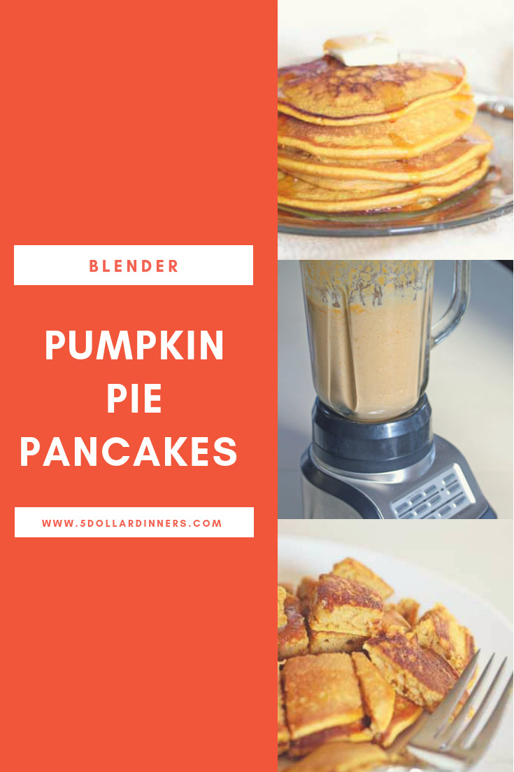 Blender Pumpkin Pie Pankcakes