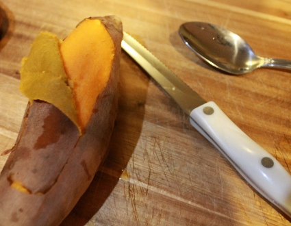 Stuffed Sweet Potatoes Cooked in a Slow Cooker