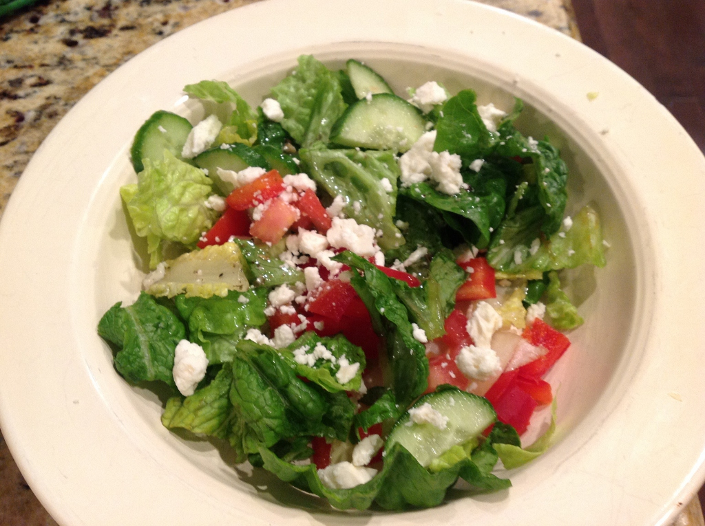 Greek Salad with a Tangy Homemade Dressing