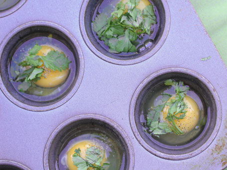 baked-eggs-with-cilantro