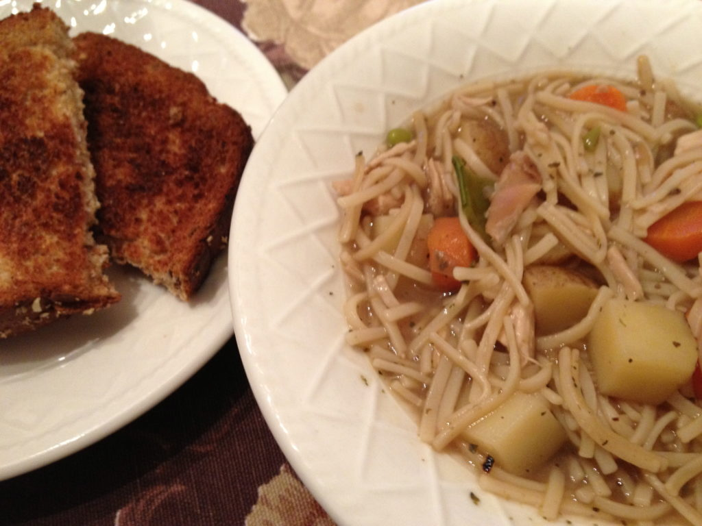 chicken noodle vegetable stoup 1
