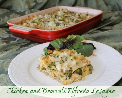 Chicken and Broccoli Alfredo Lasagna