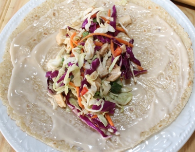 Create a Asian Chicken Salad Wrap