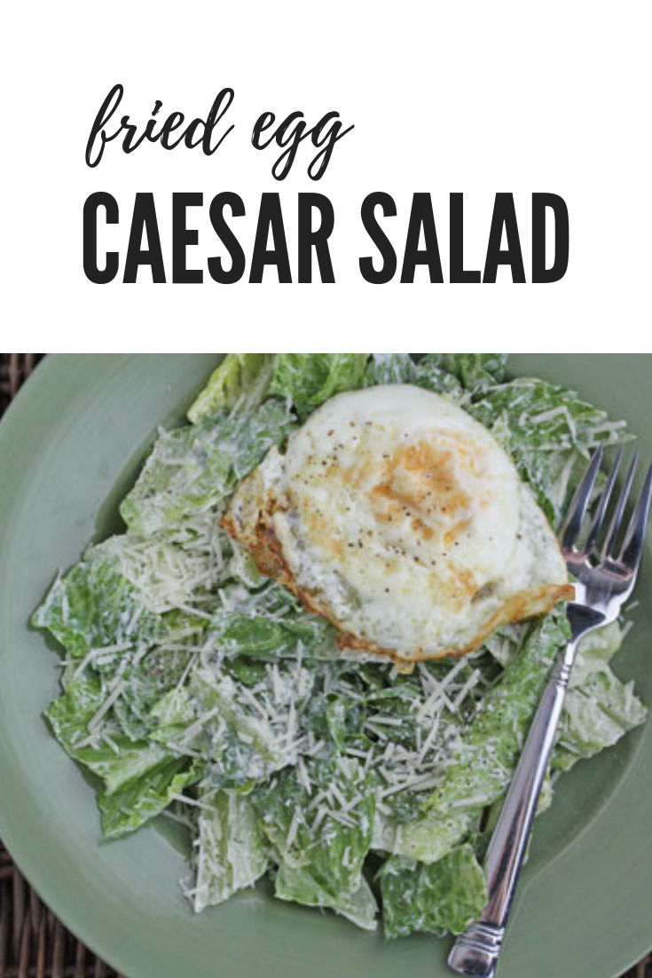 fried egg caesar salad