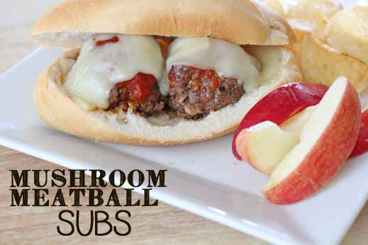 Mushroom Meatball Subs