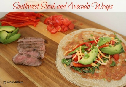 Southwest Steak and Avocado Wrap Recipe