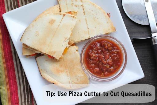 How to Cut Quesadillas