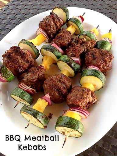 BBQ Meatball Kebabs