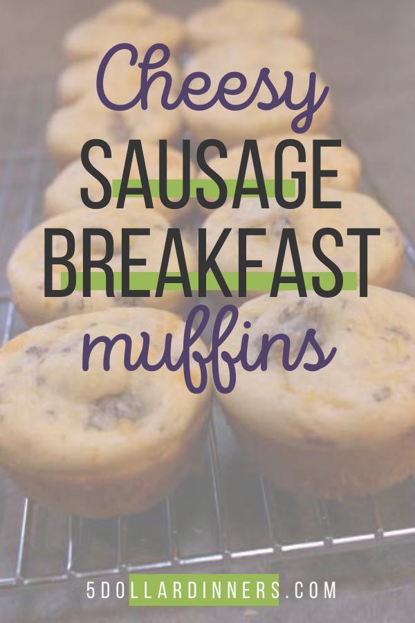 cheesy sausage breakfast muffins