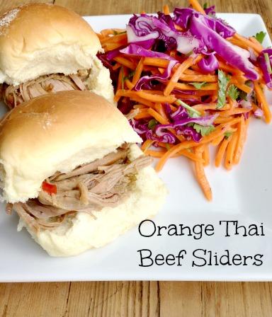 Orange Thai Beef Sliders