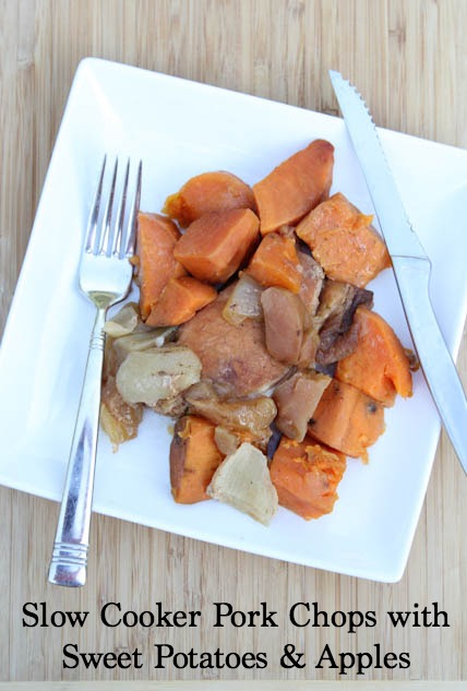 Slow Cooker Pork Chops with Apples & Sweet Potatoes