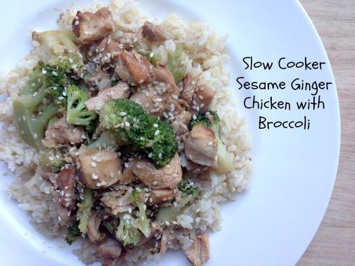Slow Cooker Sesame Ginger Chicken