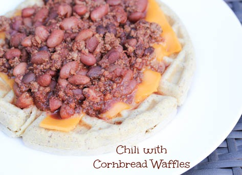 Chili with Cornbread Waffles