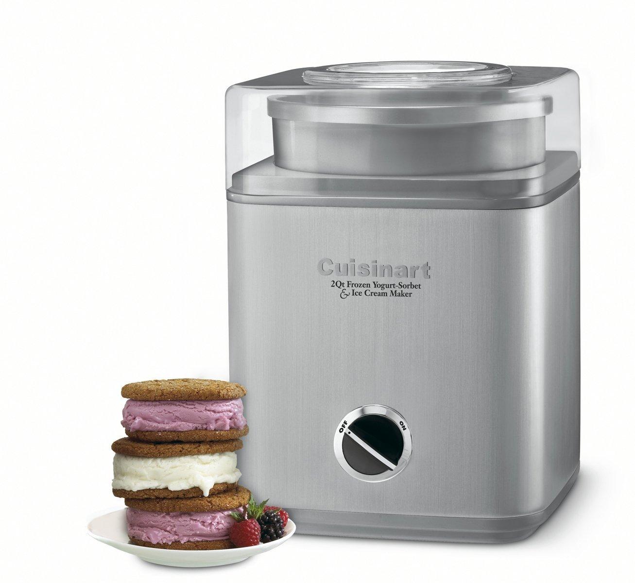 Cuisinart Pure Indulgence 2-Quart Automatic Frozen Yogurt, Sorbet, and Ice Cream Maker