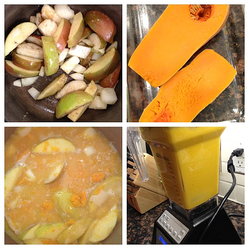 how to make butternut squash apple pear soup