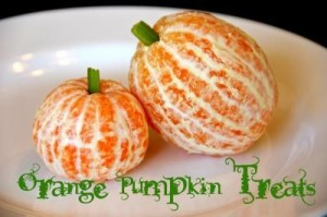 Orange Pumpkin Snacks