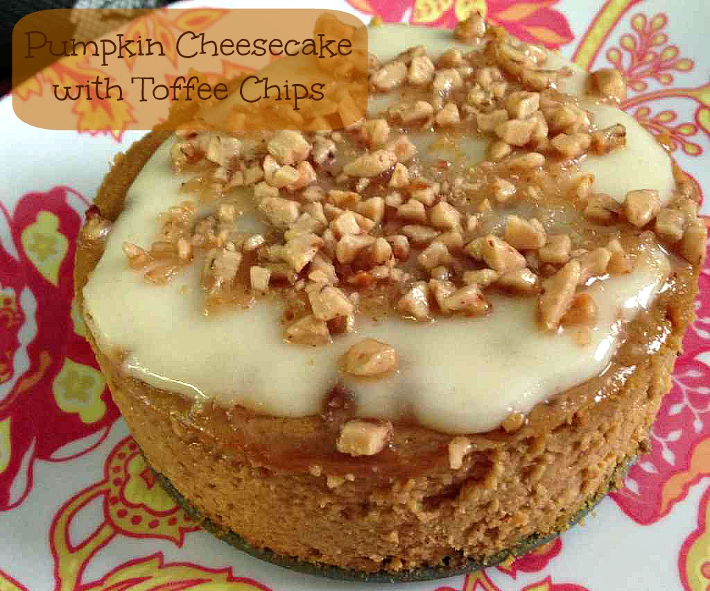 pumpkin cheesecake toffee topping