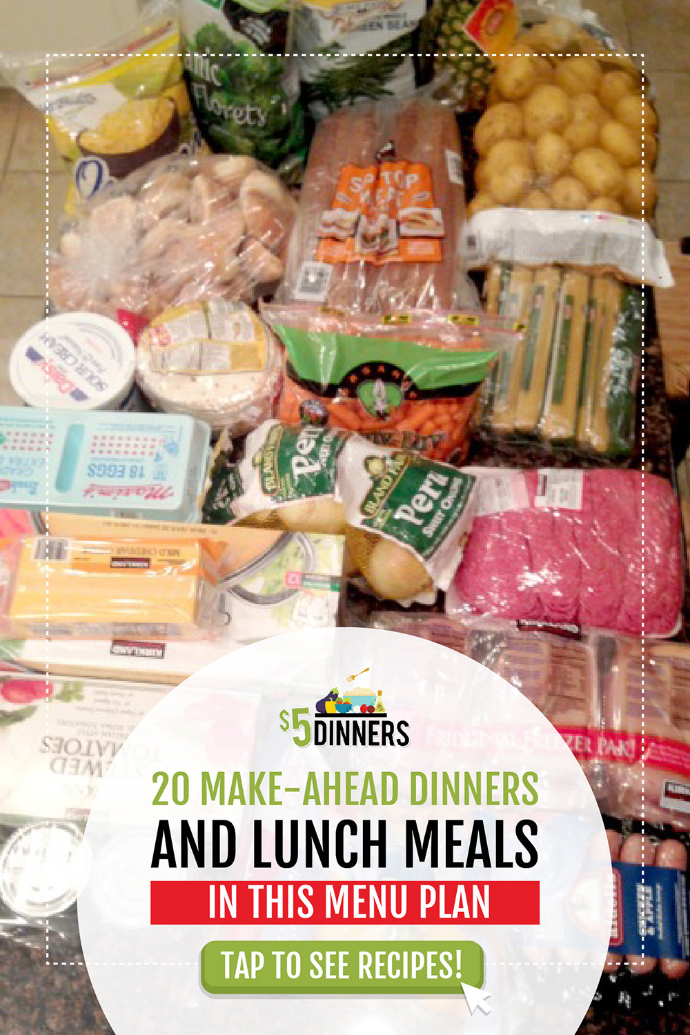 20 Meals at Costco for $150 – Meal Plan #2 with Printables