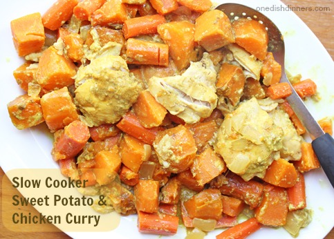 Slow Cooker Sweet Potato and Chicken Curry