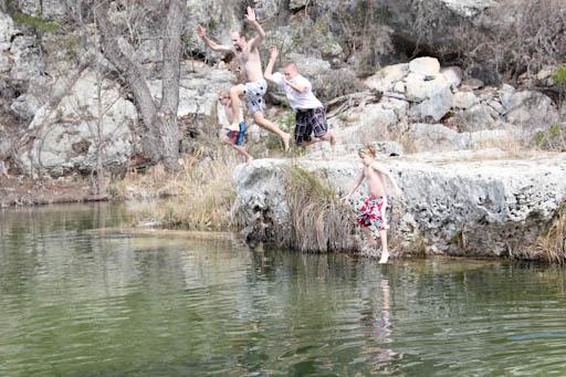 leakey rock jump