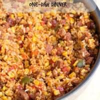Chorizo Rice Skillet Dinner from 5DollarDinners.com