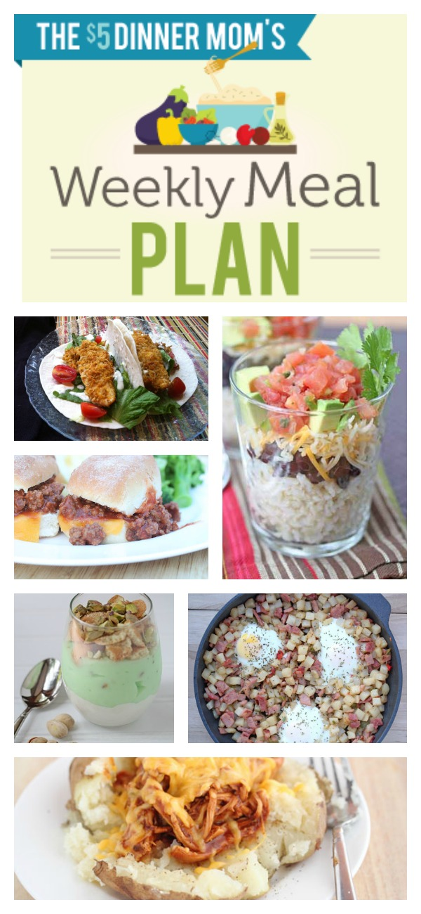 Free Weekly Meal Plan with Printable List | 5DollarDinners.com