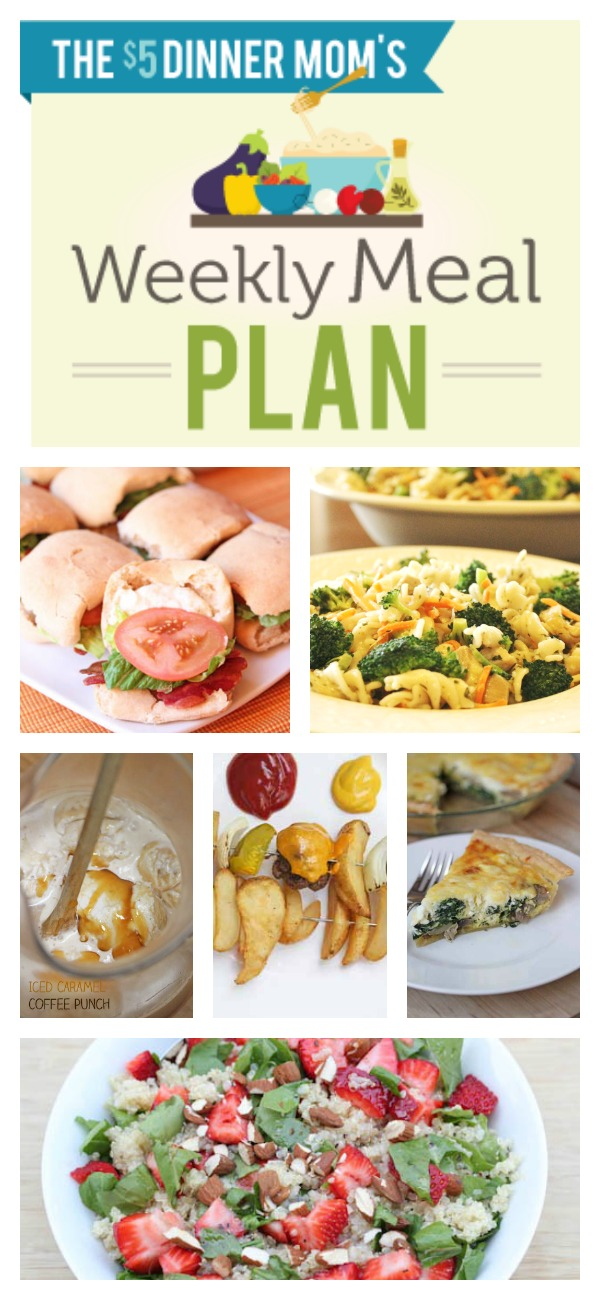 Free Weekly Meal Plan with Printable List for June 1