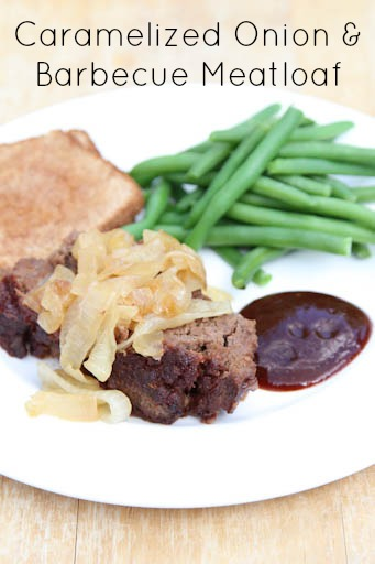 Caramelized Onion Barbecue Meatloaf