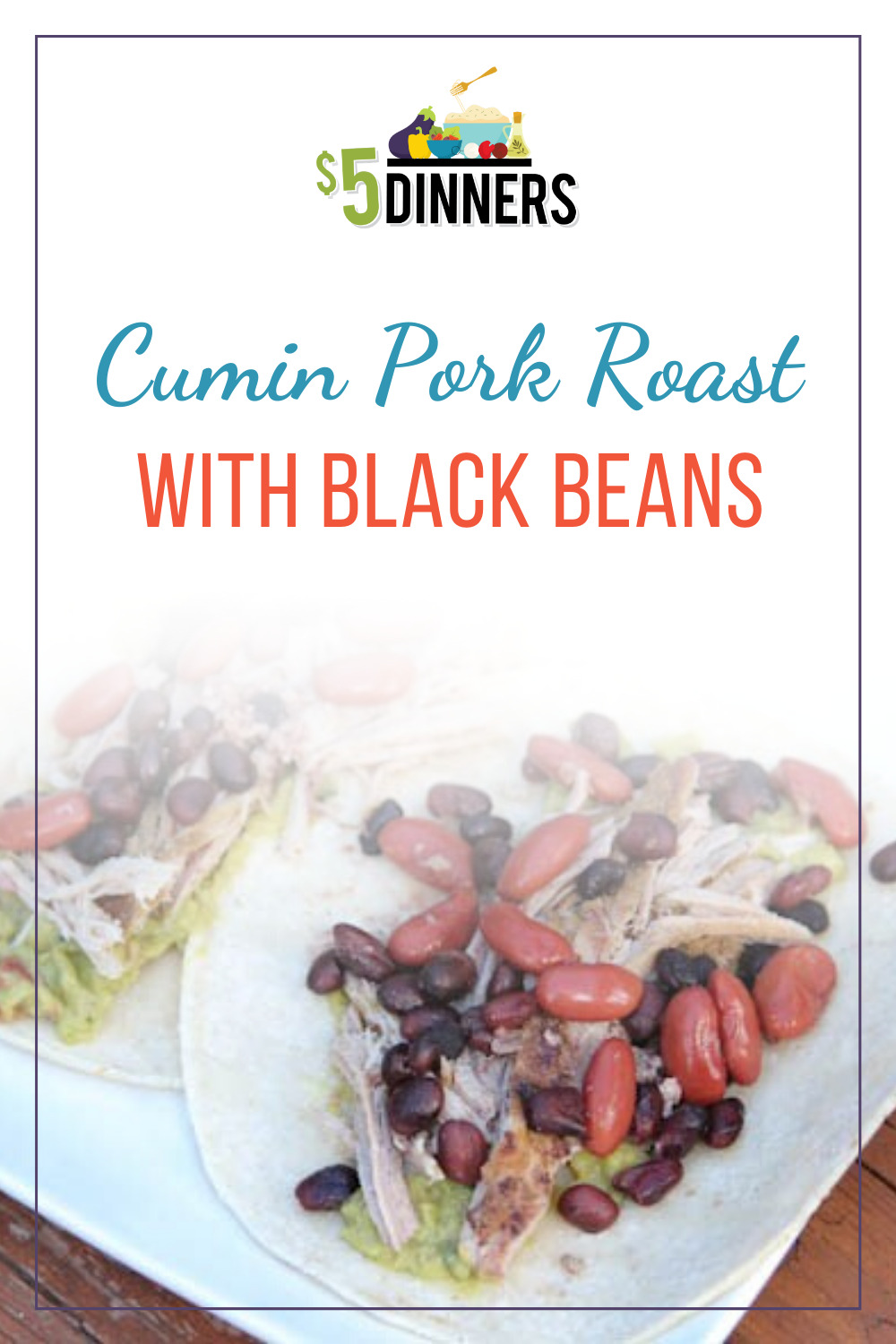 cumin pork roast with black beans