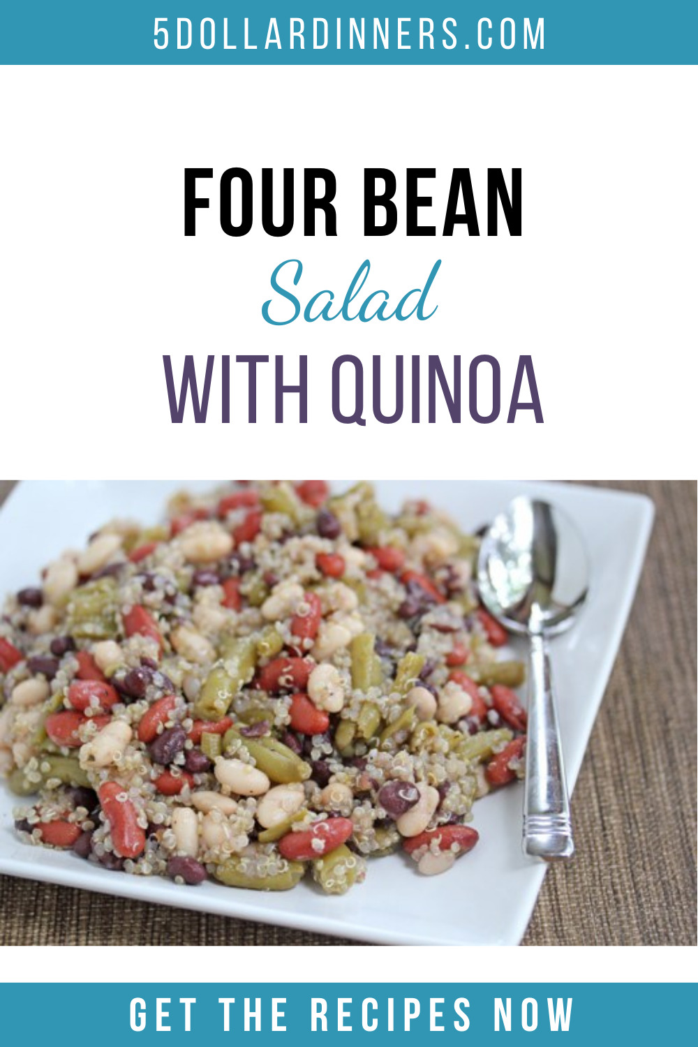 four bean salad with quinoa