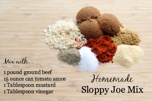 Homemade Sloppy Joe Mix Recipe