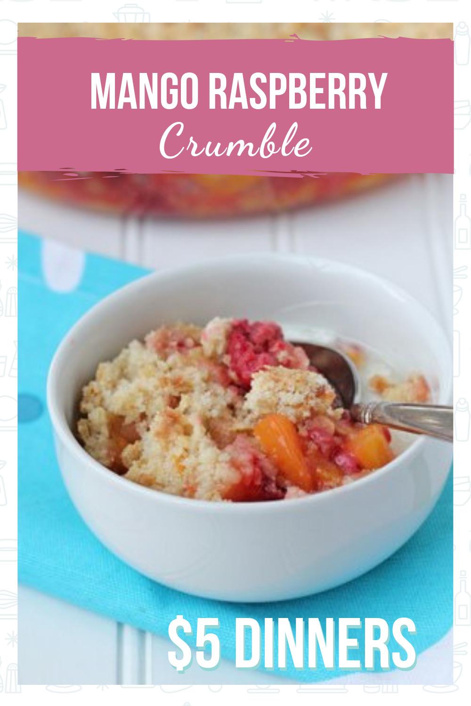 Simple, delicious recipe for the perfect summer dessert - Mango Raspberry Crumble!
