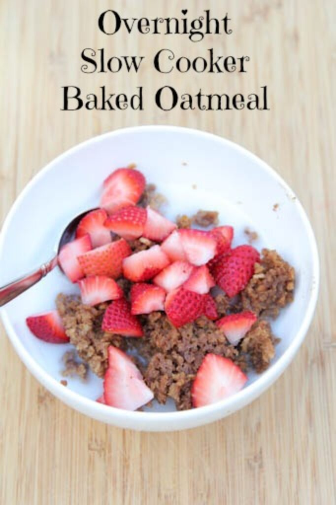 Overnight Slow Cooker Baked Oatmeal Recipe