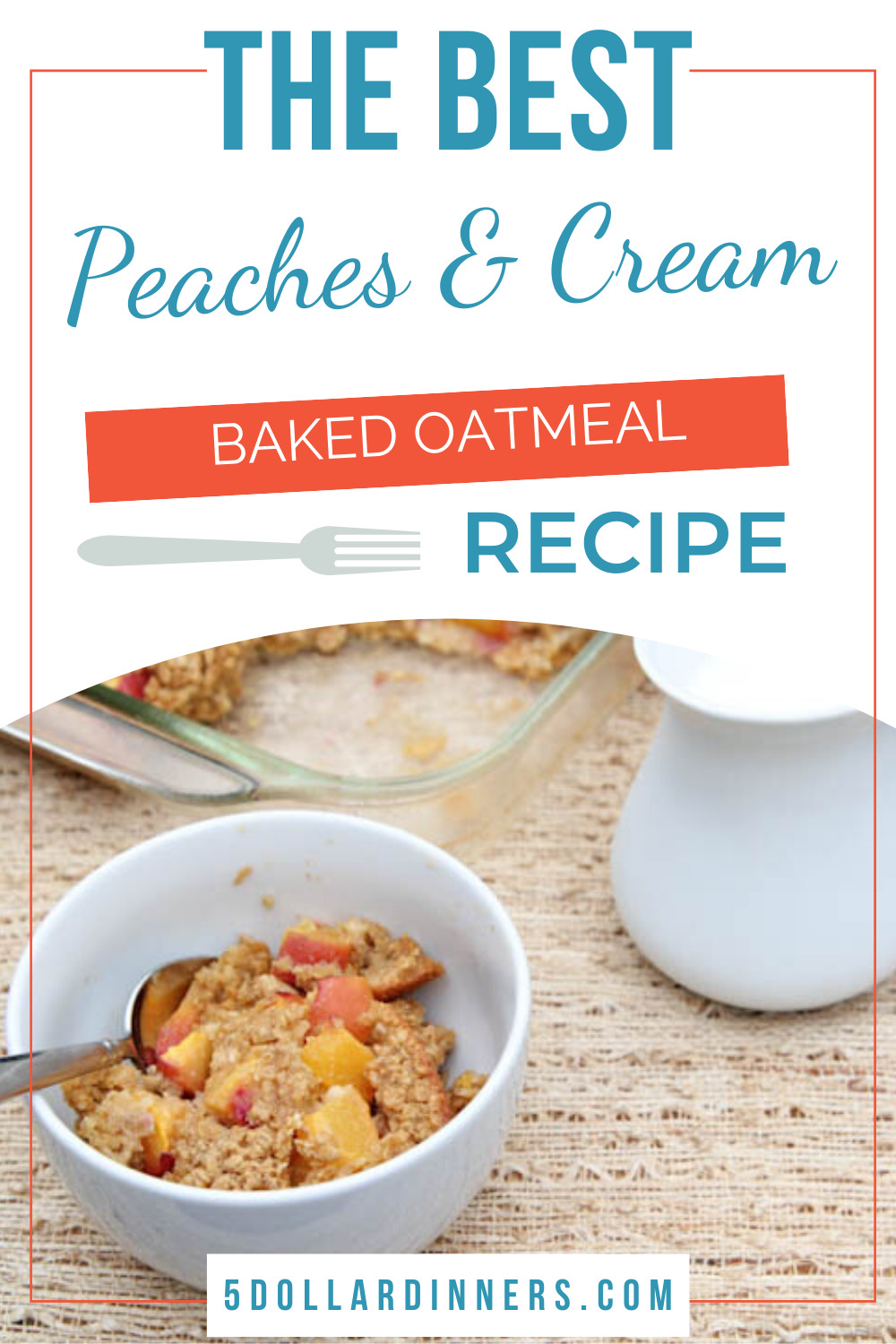 peaches and cream baked oatmeal recipe