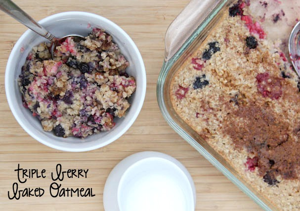Triple Berry Baked Oatmeal on 5DollarDinners.com