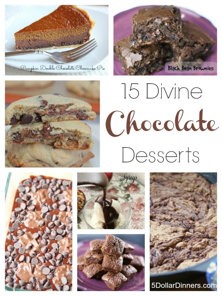 15 Divine Chocolate Recipes | 5DollarDinners.com