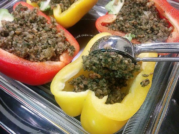 Bulgur and Pesto Stuffed Bell Peppers3