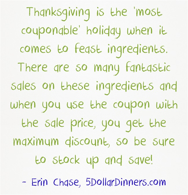 Thanksgiving Most Couponable Holiday Feast
