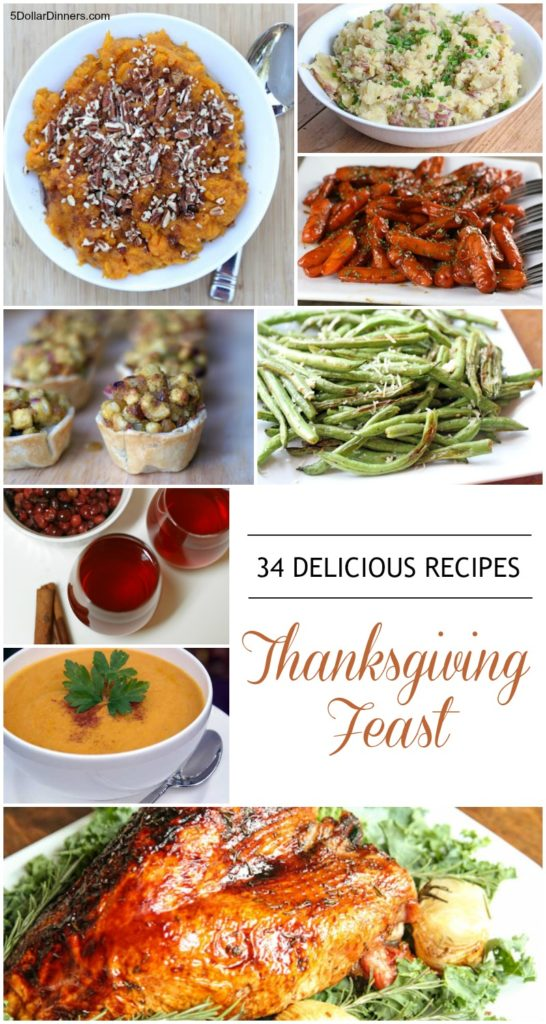 34 Recipes for a Delicious Thanksgiving Feast   5DollarDinners.com