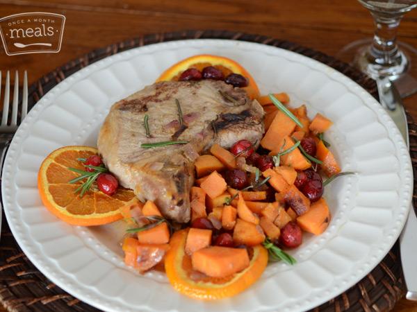 AIP Cranberry Maple Orange Pork Chops
