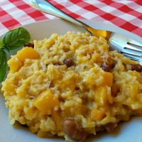 Short-Cut Butternut Squash and Borlotti Risotto | 5DollarDinners.com