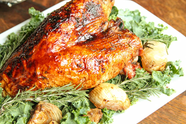 Rosemary Maple Glazed Turkey Breast on 5DollarDinners.com